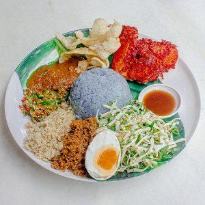Nasi Kerabu Ayam Goreng_01