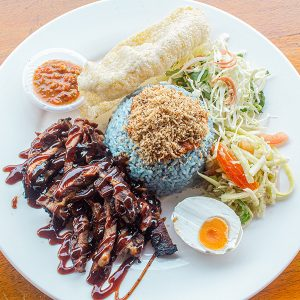 Nasi Kerabu Kambing Bakar_02